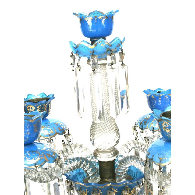 Baccarat Pair of French Victorian Baccarat Crystal Candelabras For Sale - Image 4 of 12