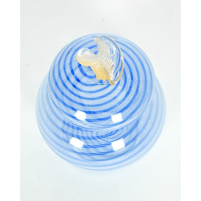 Contemporary Murano Glass Covered Vanity Jar For Sale - Image 3 of 6