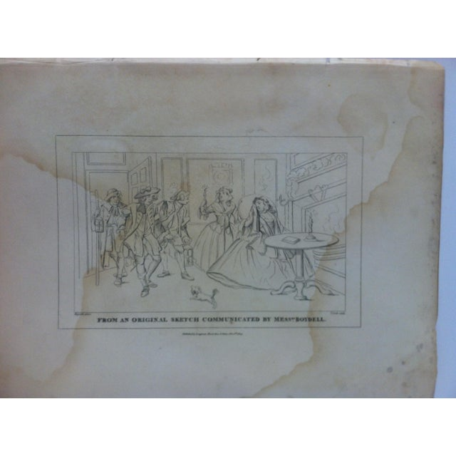 """This is an antique and rare original engraving that is titled """"From An Original Sketch Communicated by Mess Boydell"""" by..."""