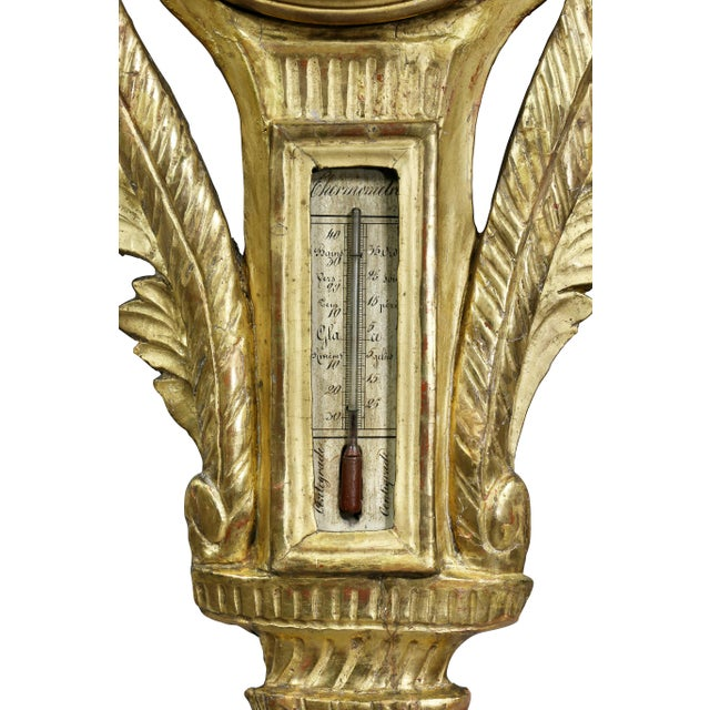 Louis XVI Giltwood Barometer For Sale In Boston - Image 6 of 9