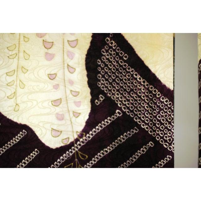 Vintage Silk Traditional Furisode Kimono - Image 9 of 9