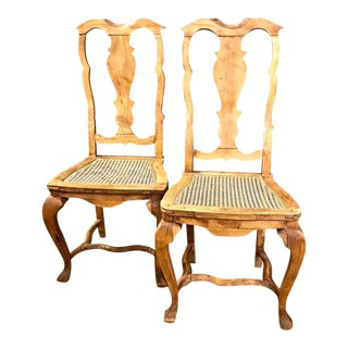 Pair of Swedish 18th Century Rococo Side Chairs, circa 1760-1770 For Sale
