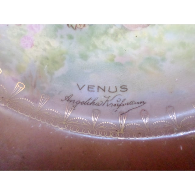 "Antique Artist Signed Angeliha Kaufmann 10"" Portrait Plate of Venus For Sale - Image 4 of 7"