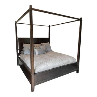 Mahogany Four Post King Bed Frame For Sale