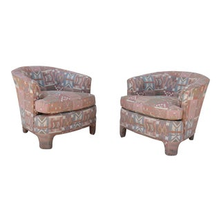 Boho Style Pair of Vintage Lounge Chairs