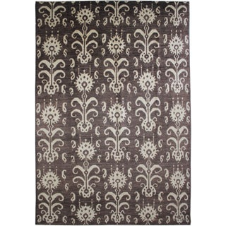 "Aara Rugs Hand Knotted Ikat Rug - 14'1"" X 10'4"" For Sale"