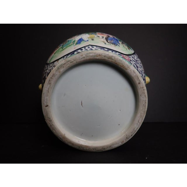 Japanese Porcelain Vase With Dragon Handles For Sale - Image 9 of 12