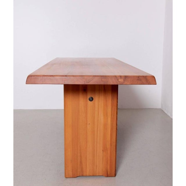 Mid-Century Modern Large Pierre Chapo T19 Dining Table in Solid Elm For Sale - Image 3 of 8