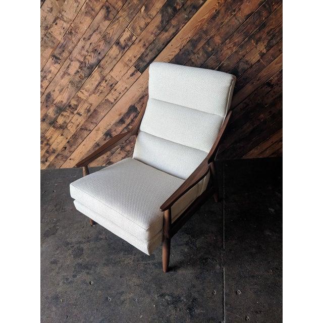 Mid-Century Modern Custom Danish Mid Century Style Lounge Chair For Sale - Image 3 of 9