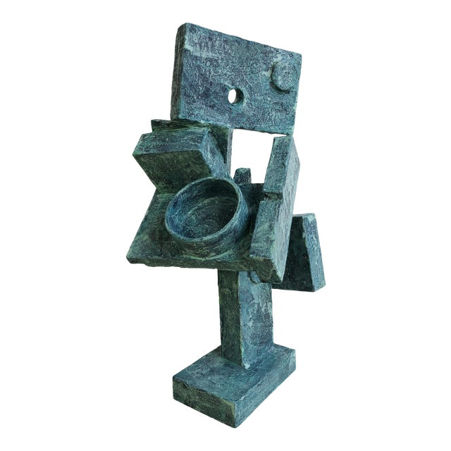"""Abstract Cubist Sculpture """"Dancer"""" by Bill Low For Sale"""