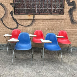 1950s Vintage Herman Miller Eames Dss Fiberglass Side Chairs- 5 Pieces Preview