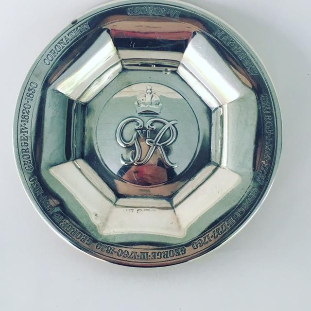 Metal George VI Silver Coronation Souvenir Ashtray For Sale - Image 7 of 7