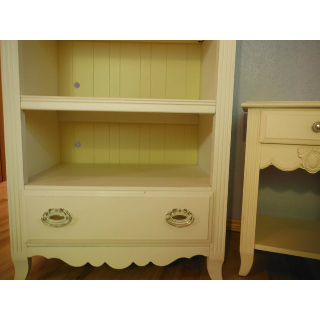 Two Tone Carved and Painted Entertainment Center - Image 5 of 6