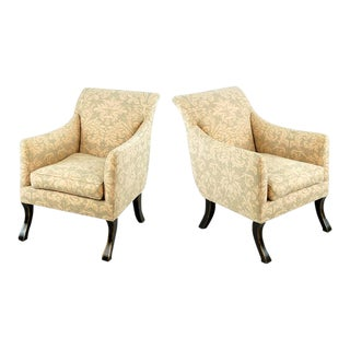 Exceptional Pair of Rose Tarlow Armchairs Covered in Fortuny Fabric For Sale