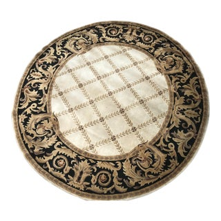 Chantilly Chateau Round Wool Rug - 8′ × 8′