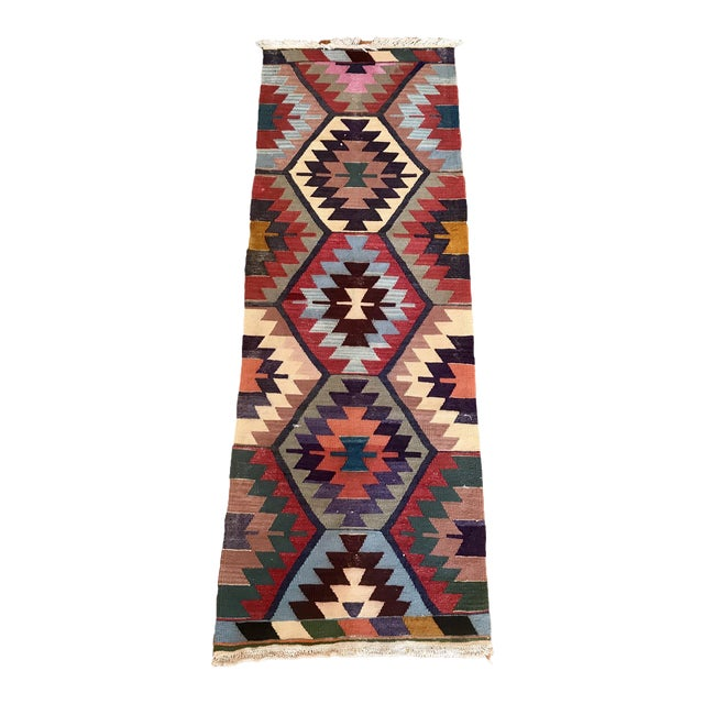 "Vintage Turkish Kilim -2'2"" 6'3"" For Sale"