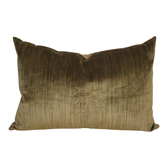 Green Velvet Boslter Pillow For Sale
