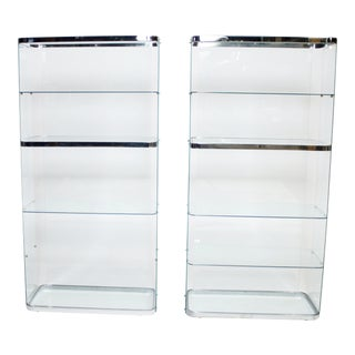 Floating Steel and Glass Vitrines For Sale