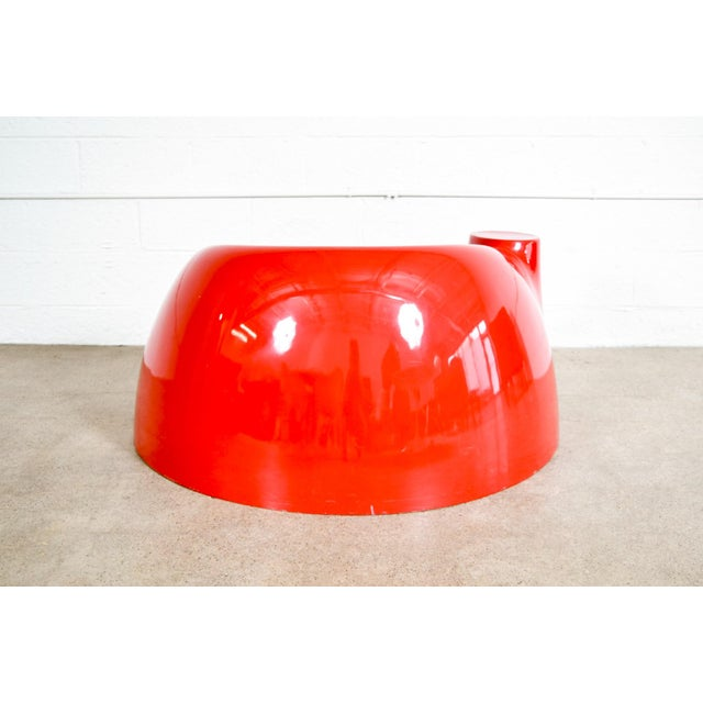 Fiberglass Mid Century Wendell Castle Red Fiberglass Lounge Chair For Sale - Image 7 of 11