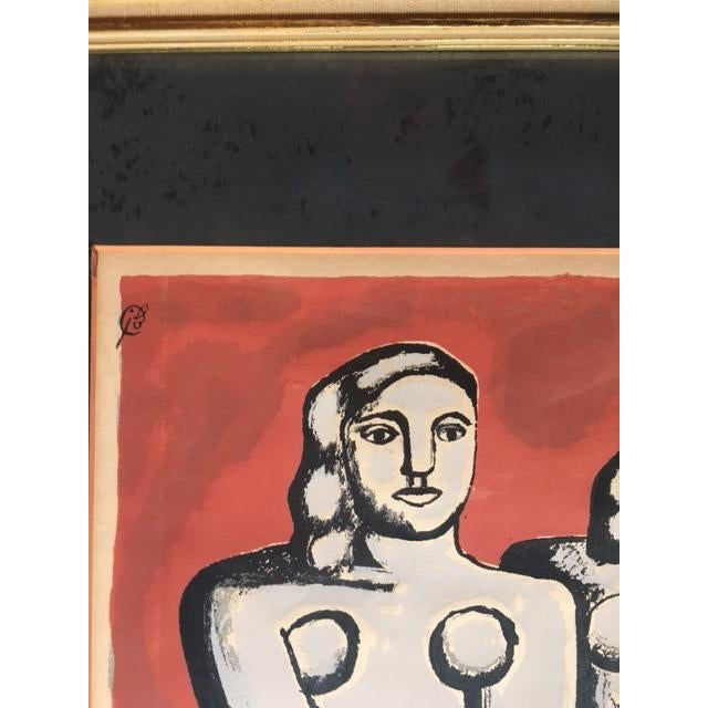 Red 'The Three Sisters on Red' Seriograph For Sale - Image 8 of 8