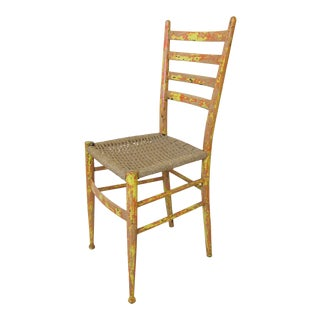 Mid Century Gio Ponti Style Italian Side Chair For Sale