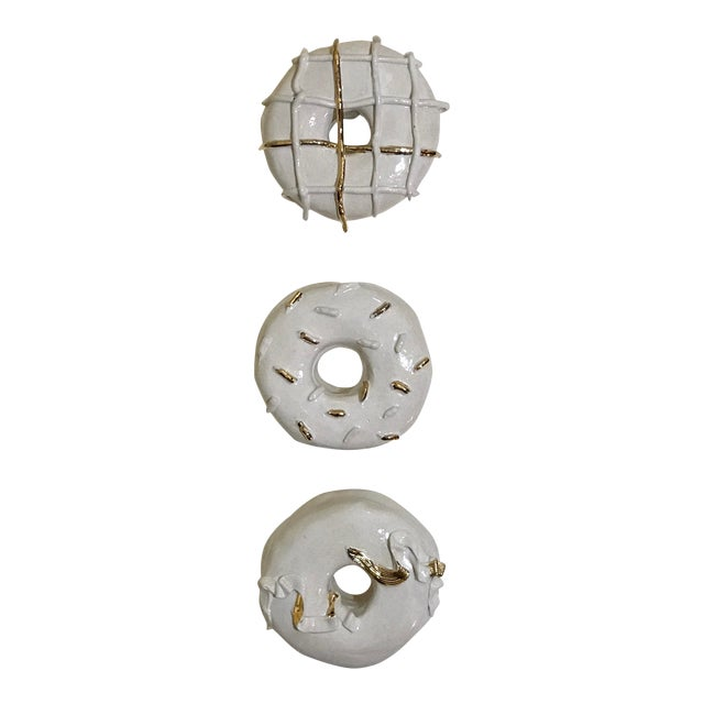 Ceramic Wall Donuts - Set of 3 For Sale