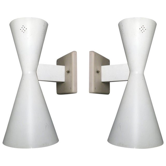 online store c459b f0980 Pair of Midcentury Double Cone Wall Sconces