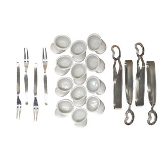 French Escargot Service - Set of 20 For Sale