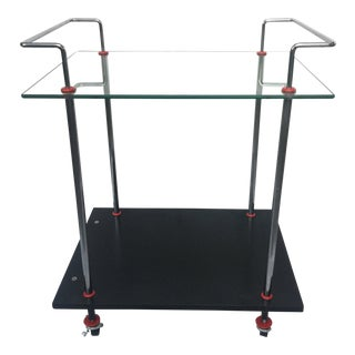 1980s Vintage Casprini Linear Bar Cart For Sale