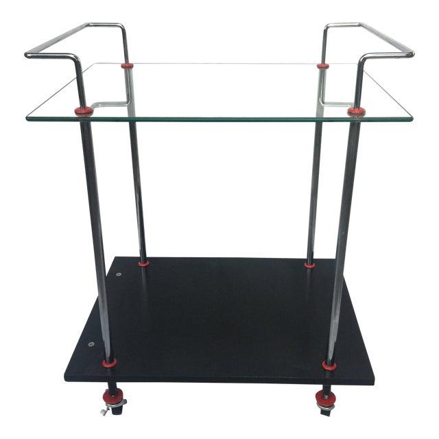 1980s Vintage Casprini Linear Bar Cart For Sale