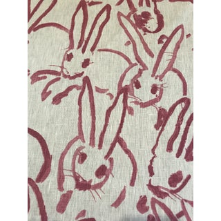 "Hunt Slonem for Groundworks ""Hutch"" Linen Fabric - 4 Yards Preview"