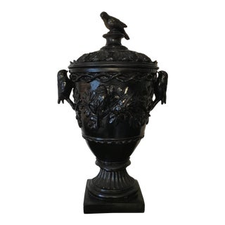 English Gothic Style Covered Bird Urn For Sale