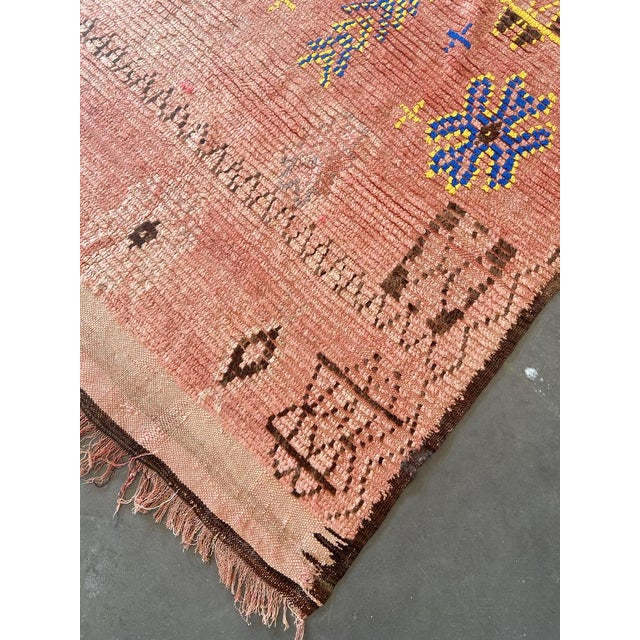 Boujad rugs are hand woven pile rugs from a small region in Haouz between the Middle Atlas and the Atlantic ocean. Made by...