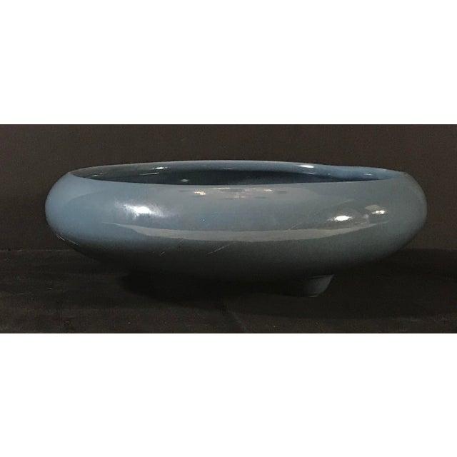 Ceramic Mid-Century Ceramic Blue Grey Planter For Sale - Image 7 of 7