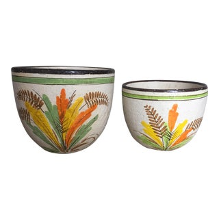 Rosenthal Netter Italian Pottery Planters- a Pair For Sale