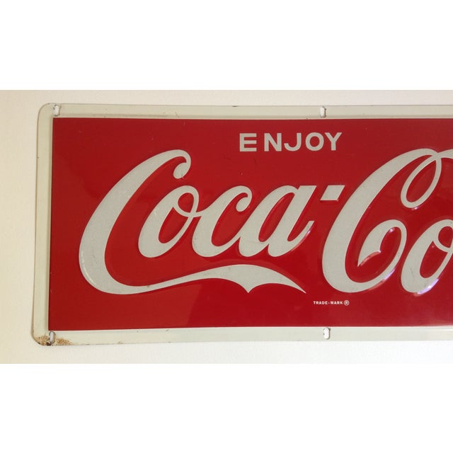 Coca-Cola Metal Tin Enamel Sign - c.1969 - Image 3 of 4