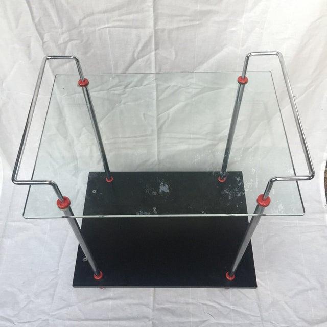 Bauhaus 1980s Vintage Casprini Linear Bar Cart For Sale - Image 3 of 11