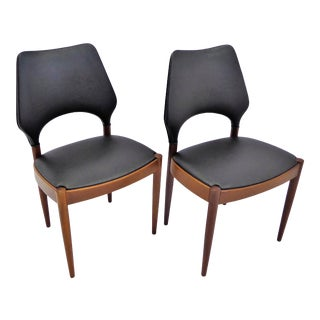 1950s Mid-Century Arne Hovmand Olsen Side Dining Chairs- a Pair For Sale