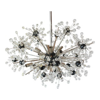 1980s Crystal Star Sputnik Chandelier For Sale