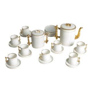 1930s Porcelain Tea Set - 22 Piece Set For Sale