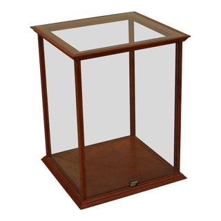 Custom Quality Cherry and Glass Table Top Display Cabinet For Sale
