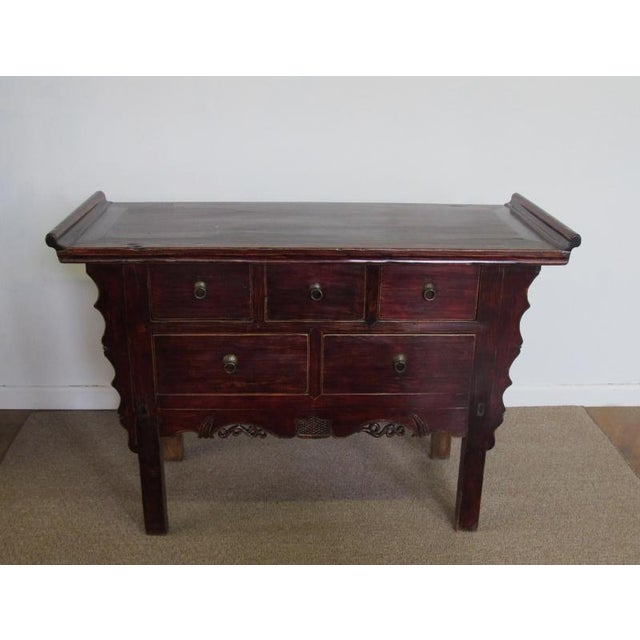 Five-Drawer Console Table For Sale - Image 4 of 11