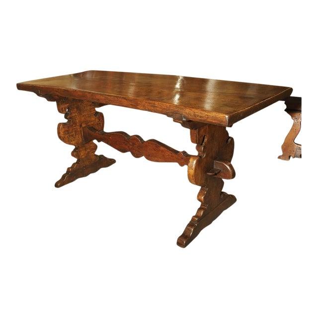 17th Century Italian Walnut Wood Table For Sale