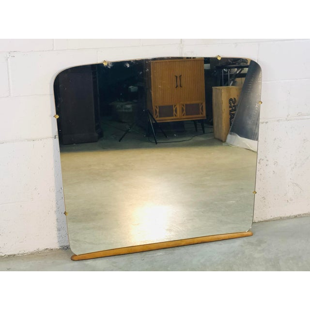 Vintage 1950s Heywood Wakefield mirror. May have originally been used on a vanity but could easily be used as a wall...