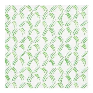 Sample - Schumacher Trevi Diamond Wallpaper in Grass For Sale