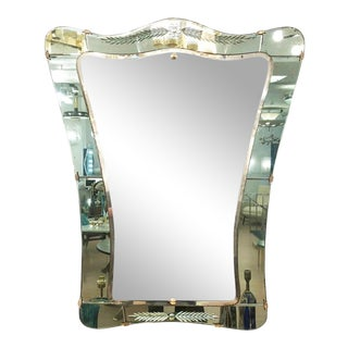 Cristal Art Mirror, Italy, 1950s For Sale