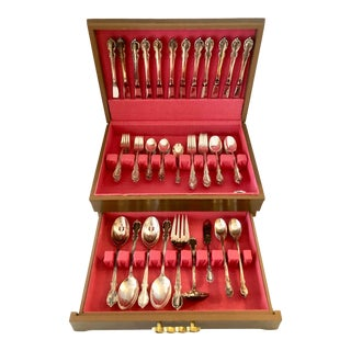 "1959 ""Reflection""Flatware Set/ 80 Pieces For Sale"