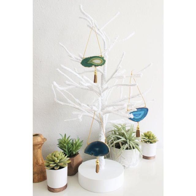 Modern Boho Agate Holiday Ornaments - Set of 3 - Image 3 of 5