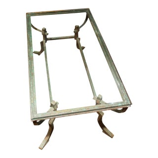 Contemporary Style Iron and Glass Coffee Table