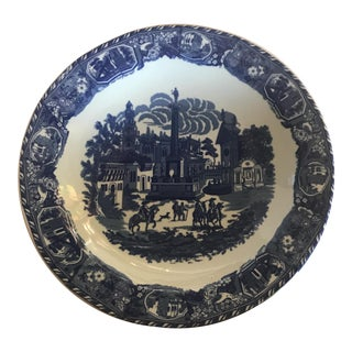 Large Blue & White Victoria Ware Ironstone Platter For Sale